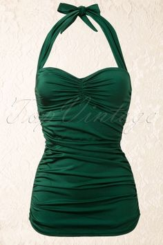Esther Williams Swimwear - Classic Fifties One Piece Swimsuit Green