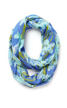 Lilly Pulitzer Riley Infinity Loop Scarf in Iris Blue Chablis