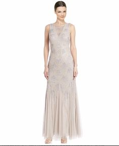 e5b3a86b Shop for Aidan Mattox Beaded Godet Evening Gown (Size Get free delivery at  Overstock - Your Online Women's Clothing Destination!