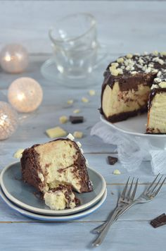 Cheesecake with chocolate - marbled - heaven on a plate Penne Pasta, Tiramisu, Cheesecake, Cooking Recipes, Cupcakes, Favorite Recipes, Chocolate, Baking, Ethnic Recipes