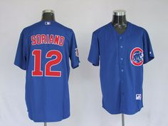 $35.00    MLB jerseys Chicago Cubs Alfonso Soriano #12 Blue