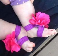 sandalias de bebe pies descalzos Barefoot, Slippers, Ribbon, Sandals, Shoes, Baby Girls, Babyshower, Diy, Fashion