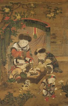 Children Cooking Pao-tzu  anonymous, Yüan dynasty ----- National Palace Museum. Taipei