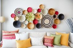 A collection of baskets will add beautiful texture to your #home #decor