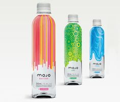 Mojo coolers are another member of the alcoholic energy drink bandwagon. The bottle design is pretty cool and really suggest the idea of a liquid drink, as they define themselves. I couldn't find out the name of the design studio who made their labels, do anyone know?