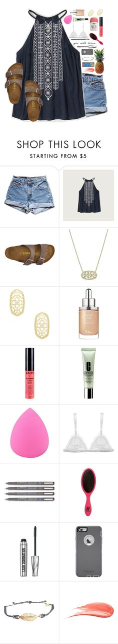 """*she has fire in her soul and grace in her heart*"" by lydia-hh ❤ liked on Polyvore featuring Levi's, Abercrombie & Fitch, Birkenstock, Kendra Scott, FRUIT, Christian Dior, NYX, Clinique, Zodaca and Curriculum Vitae"