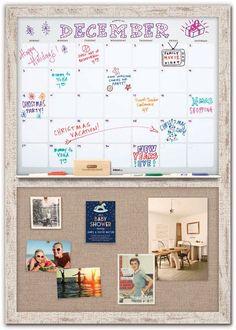 Dry Erase Calendar 34 x 48 Memo Boards, Cork Boards, Fabric Bulletin Board, Family Calendar, Calendar Wall, Corkboard Calendar, Calendar Ideas, Family Command Center, Command Centers