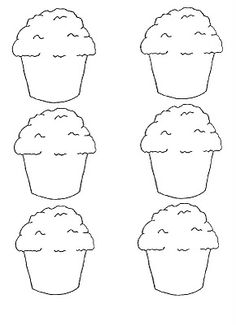 Muffin pattern. Use the printable outline for crafts