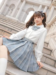 Cute Skirt Outfits, Cute Skirts, Classy Outfits, Pretty Outfits, Cool Outfits, Harajuku Fashion, Kawaii Fashion, Look Fashion, Fashion Outfits