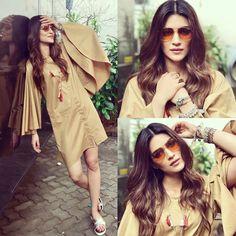 Kriti Sanon for Bareilly Ki Barfi promotion Bollywood Stars, Bollywood Fashion, Casual Outfits, Fashion Outfits, Fashion Trends, Casual Wear, Fashion Ideas, Beautiful Bollywood Actress, Indian Models