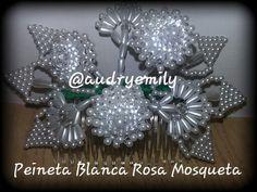 Peineta de Rosa Mosqueta. Parte del vestido tipico panameño. A la venta Solicita tu pedido al (507) 6987-9357