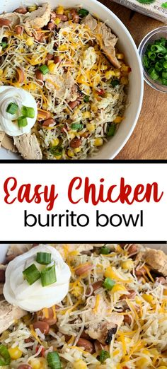 Easy Chicken Burrito Bowls Rib Recipes, Pork Chop Recipes, Roast Recipes, Bean Recipes, Easy Chicken Recipes, Grilling Recipes, Salad Recipes, Dinner Recipes, Healthy Recipes