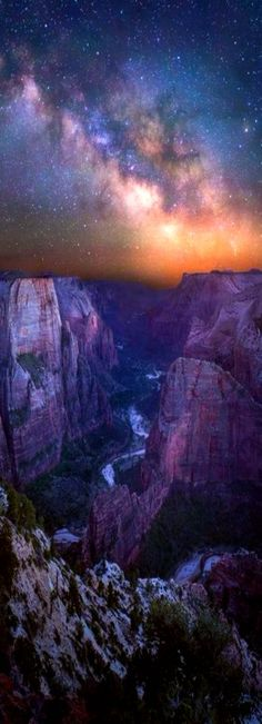 Night sky from Observation Point @ZionNPS. #MilkyWay photo by Jared Warren #Utah
