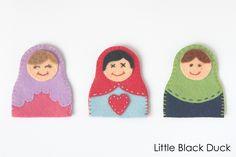 Matryoshka Doll Finger Puppet: Free PDF Pattern | Sew Mama Sew |