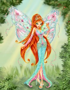 Fan Art of Bloom for fans of The Winx Club 20100491 Bloom Winx Club, Las Winx, Fairy Pictures, Fairy Art, Fantasy World, Faeries, Fairy Tales, Aurora Sleeping Beauty, Sketches