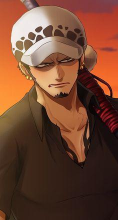 One Piece English, One Peace, Harry Potter Anime, Trafalgar Law, One Piece Anime, Cellphone Wallpaper, Cartoon Characters, Samurai, Kawaii