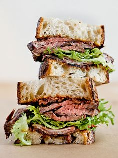 Hanger Steak Sandwich by Lincoln Barbour Photo