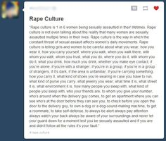 One response as to what rape culture is.