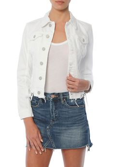 Get the Blank NYC Fray Hem Jacket, the latest designer fashions, denim and celebrity style at SINGER22.com, Free Shipping + Returns Made Easy!