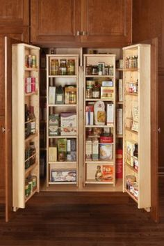 May need something like this under counter pantry -- base cabinet ...