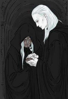 "Adonai & Marielle (""Nevernight"" by Jay Kristoff) by Phantomrin http://phantomrin.tumblr.com/image/151280286420"