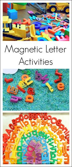 18 fun preschool alphabet activities using magnetic letters!