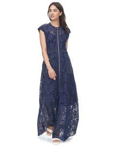 Rebecca Taylor Floral Lace Maxi Dress