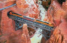 The American section features giant models of the Rocky Mountains, Everglades,    Grand Canyon...