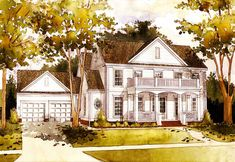 - 4554WR | 1st Floor Master Suite, Butler Walk-in Pantry, CAD Available, Colonial, Corner Lot, PDF, Traditional | Architectural Designs