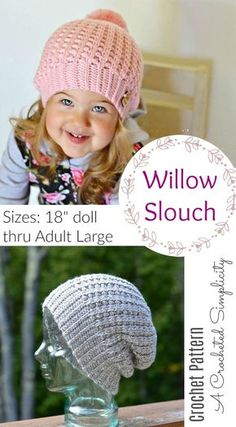 Crochet Pattern - Willow Slouch by A Crocheted Simplicity