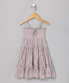 Take a look at this Lilac Lace Convertible Dress - Girls by Lapis on #zulily today!