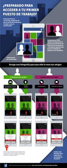 Infografía de Facebook para su uso en búsqueda de #empleo En @TreceBits