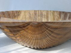 Hand-carved Elm Wood Scallop Shell Bowl by normanlbrown on Etsy