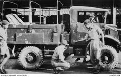 Malaya: Perak, 1956. A British or Malayan, Chevrolet C15A 4x4, Canadian Military Pattern, 15 CWT GS truck, which has been riddled with bullet strikes as a result of an ambush by Communist terrorists in Northern Malaya. The vehicle is being inspected by Malayan and British soldiers. P04031.004