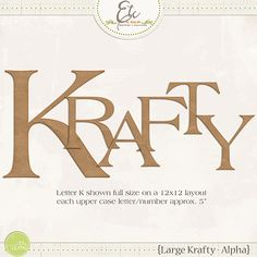 Large Krafty Alpha |