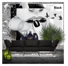 """""""Always and forever Black"""" by sisilem ❤ liked on Polyvore featuring interior, interiors, interior design, Zuhause, home decor, interior decorating, Lemnos, Élitis, Moooi und Jayson Home"""