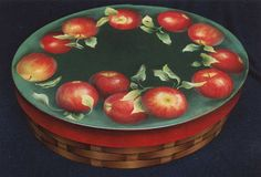 tole painted apples -