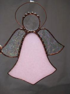 Stained Glass Pink & Clear Angel Suncatcher by JuliaLouiseShop, $12.00