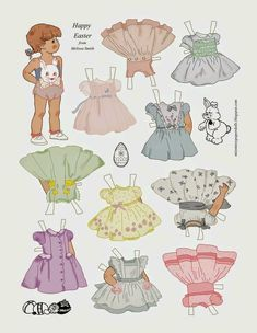 Cute Easter Paper Doll