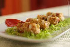 Zeffiro Restaurante e Rotisseria (almoço)    Rolinhos de couscous paulista  Couscous com legumes servido com enfeites de alface