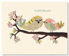 Baby Girl Nursery Prints, Retro Nursery Decor, Vintage Nursery by LittleMonde, $16.00