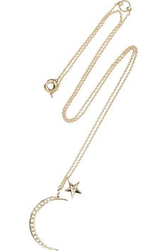 Anita Ko | Moon & Star 14-karat gold diamond necklace | NET-A-PORTER.COM