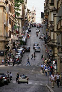 Rom, Via delle Quattro Fontane, Blick zur Santa Maria Maggiore (view to Santa Maria Maggiore) | Flickr - Photo Sharing!