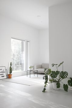 Minimal living room space via - Our showroom is also open till today. Bedroom Furniture Design, Home Decor Styles, Home Living Room, Interior, Cheap Office Decor, Home Decor, House Interior, Minimal Living Room, White Interior