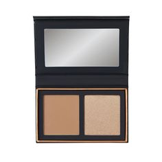 Alexis Ren Topaz includes She's Here to Stay true gold pearlized highlighter and Golden Moment warm bronze matte bronzer