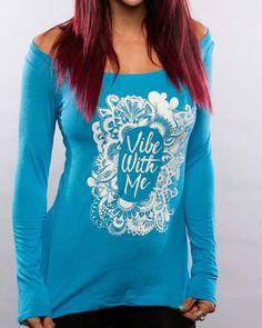 Vibe with Me Blue Long-Sleeve! #trending #zen