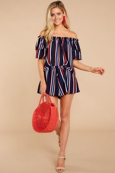 31543df293fe Charming Navy Two Piece Set - Striped Two Piece Set - $64.00 – Red Dress  Boutique