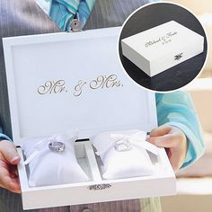Personalized Ring Bearer Pillow Keepsake Box #ringpillow #ringpillowalternative #ringpillowbox