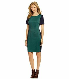 Cremieux Eara Colorblock Jacquard Dress #Dillards