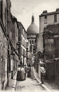 Montmartre - Photos anciennes et d'autrefois, photographies d'époque en noir et blanc